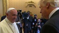 صدر ٹرمپ کی پوپ سے ملاقات