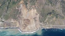 Big Sur hit by 'biggest' landslide