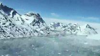 Voos sobre o gelo: Vídeo da Nasa monitora geleiras da Groenlândia