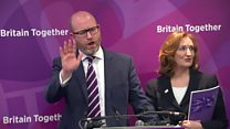 UKIP leader 'not blaming PM' for attack