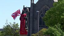 Aberdeen turns red for Scottish Cup Final