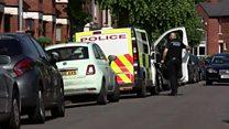 Anti-terror police search a property in Nuneaton