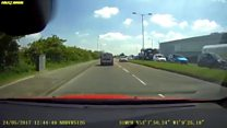 Car spotted going wrong way down dual carriageway