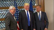 A Bruxelles, Donald Trump confronte ses alliés européens