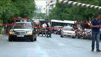 Greek ex-PM's car sealed off after blast