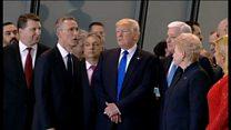 Ông Trump 'chen lấn' ở trụ sở Nato