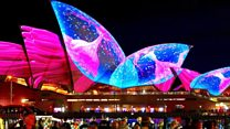 Sydney dazzles in light show