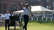 Barack Obama enjoys himself in St Andrews