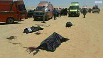 الصور الأولية للهجوم على حافلة للأقباط في مصر
