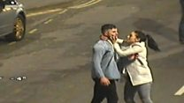 CCTV captures fight at taxi rank