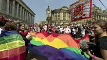 Defiant Birmingham Pride revellers