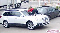 La intrépida mujer que saltó sobre su auto para evitar que se lo robaran