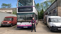 Man creates double-decker digs for family