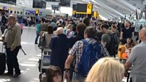 'Absolute chaos' at Heathrow