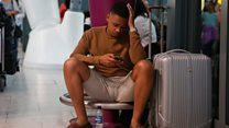 Travelers tell stories of BA disruption