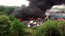Major industrial fire at Swansea plant