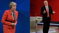 May and Corbyn face audience in debate