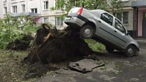 Moscow battered by deadly storm