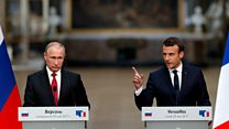 Macron denounces 'lying' Russian media