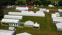 Aerial view of the Suffolk Show