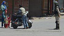 کشمیر میں کمانڈر کی ہلاکت کے بعد ہڑتال جاری
