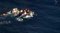 Човен з мігрантами загорівся у морі