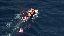 پناہ گزینوں کی کشتی کو آگ لگ گئی