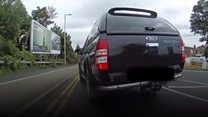 Cyclist films 'dangerous drivers'