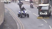 Police hunt bikers who caused city centre chaos