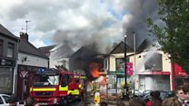 Firefighters tackle blaze in Ballymena