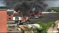 Fire engulfs row of Ballymena shops