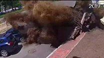 ท่อประปาระเบิดสนั่นในกรุงเคียฟ