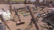 الجيش العراقي يعثر عى وثائق وأسلحة تعود لتنظيم الدولة في الموصل