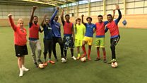 Football matches for refugee players