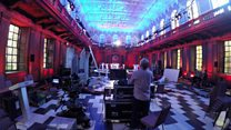 Watch: A time-lapse of the BBC election debate set as it's built