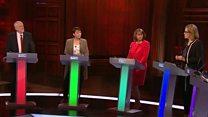 زعماء الأحزاب السياسية البريطانية يلتقون في مناظرة الا رئيسة الوزراء