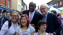 Frank Bruno joins campaign trail