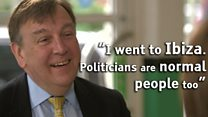 'Politicians are normal people. I went to Ibiza'
