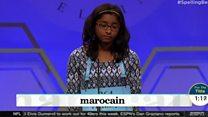 Ananya Vinay spells marocain to win bee
