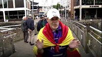 A Spanish journalist is walking form Madrid to Cardiff for the 2017 UEFA Champions League final