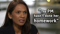 Gina Miller: 'The PM hasn't done her homework'