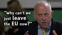 Godfrey Bloom: 'Why can't we leave the EU now'