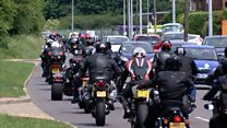 Bikers ride out in Ipswich for man's funeral