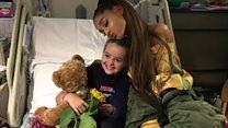 Ariana Grande meets injured fans