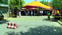 چند انفجار انتحاری در مراسم خاکسپاری یکی از کشته های راهپیمایی کابل