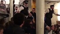 'Stay down' - police evacuate bar