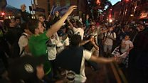 Real Madrid fans celebrate win in Cardiff