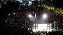 香港11万群众悼六四死难者