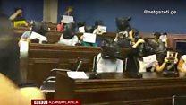 Gürcüstan parlamentində Əfqan Muxtarlıya dəstək aksiyası