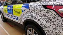 Police car art